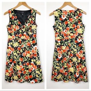 Spense Petite Floral Pattern Dress Lined Bodice 6P